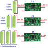 1S/2S/3S DC 3.7~6V 1A NiMH Rechargeable Battery Charger Module To DC1.5V/3V/4.5V
