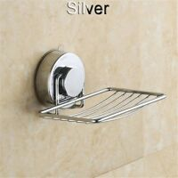 Bathroom Shower Drain Tray Holder Soap Dish Stainless Steel Suction Cup