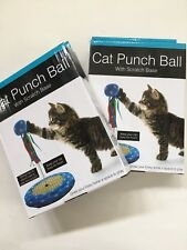 Cat Punch Ball Toy play Kitten Scratching Base Lot Of 2