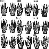 JT_ 2Pc Henna Stencil Temporary Hand Arm Tattoo Body Art Sticker Decal Templat