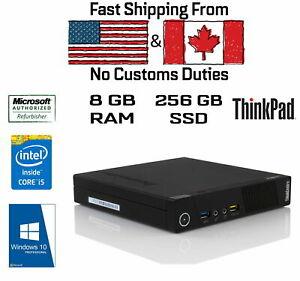Lenovo ThinkCentre M93p USFF Tiny, i5-4570T, 8GB RAM, 256GB SSD, HDMI,Win10Pro