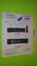 Kenwood dp-6020 service manual original repair book stereo cd player
