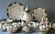 ROYAL ALBERT ' ROYAL ASCOT ' TEA SET AND TABLEWARE - ENGLISH BONE CHINA