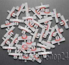 50x BARRE ornamentali parentesi clip Audi 50 VW Golf mk1 GTI Jetta Maggiolino 80 113853585