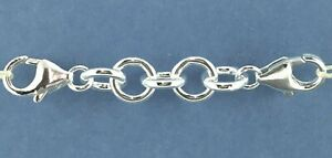 Sterling Silver 925 Round Link Safety Chain Extender Large 2 x Lobster Clasps