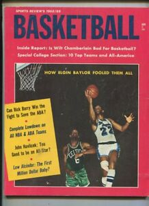Sports Review's Basketball  1968-1969 Wilt Chamberlain Elgin Baylor  MBX100