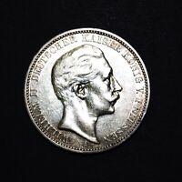 Preussen 1909 A 3 Mark Wilhelm II. ss (M1646