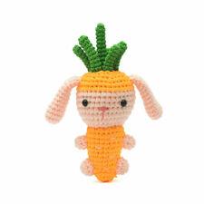 Orange Carrot Bunny Rabbit Handmade Amigurumi Stuffed Toy Knit Crochet Doll VAC