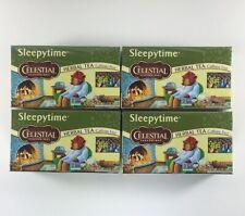 4x Celestial Seasonings Sleepytime Caffeine-Free Herbal Tea 20 Bags (80 Total)