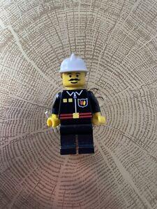 Lego Fire Man Black Uniform Fire009 Minifgure GOOD CONDITION