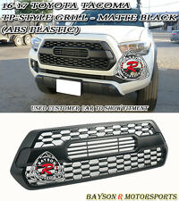 TP-Style Front Grille Insert ABS Plastic (Matte Black) Fits 16-18 Toyota Tacoma