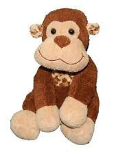 "Cost Plus World Market Brown Plush Monkey Stuffed Animal 10"" Leopard Print Ears"