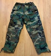 US Army Woodland Camo GoreTex Extended Cold Weather Trousers NEW Large-Regular