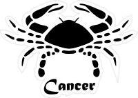 Sticker decal zodiac astrological astrology sign car vinyl crab cancer