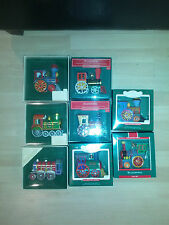 Hallmark Tin Locomotive Trains -- All 8 including Boxes!! 1982 - 1989