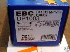 EBC rear brake pads, Mazda MX-5 1.8, MX5, Eunos, mk1 & mk2 93-, for 251mm discs