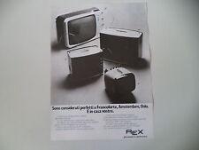 advertising Pubblicità 1972 TELEVISORI REX 24/12/17/9 POLLICI