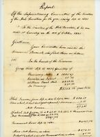 Dr Hale Donation report 1821 Handwritten Document New England Booth Amos Bussett
