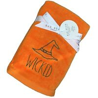 "Rae Dunn ""WICKED"" Halloween Hand Towels NWT"
