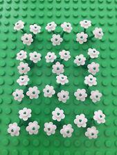 LEGO WHITE Flowers Flower X36 & Stems X12 (12 LEGO Flowers) New city park friend