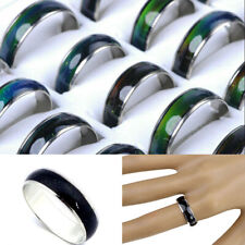 100pcs Wholesale Mixed Lots Alloy Rings Color Changing Mood Rings Jewelry Gift