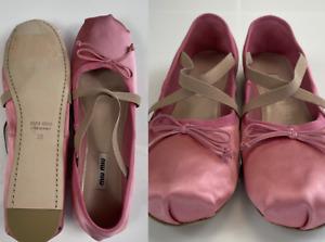 MIU Iconic Ballet Dancing Flat Shoes Ballerinas Sandals Shoes 40