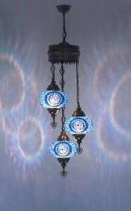 Turkish Mosaic Lamp Chandelier Big 3 Globe