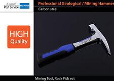 Profess Chrome-vanadium steel Geological hammer Flat claw Mining Tool Rock Pick