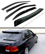 96-2000 HONDA CIVIC 4DR SEDAN JDM SMOKE REAR ROOF WINDOW + SIDE DOOR VISOR COMBO