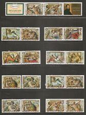 Burundi SC # C228-C230, CB35-CB37, B65-B67. Michaelangelo paintings CTO. MNH