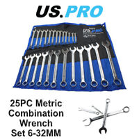 US PRO 25pc Metric Combination Spanner Wrench Set 6 - 32mm 3232