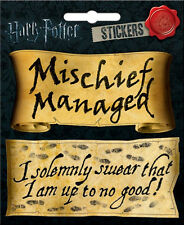 Harry Potter Mischief Managed & Solemnly Swear Phrase Set of 2 Peel Off Stickers