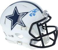 CeeDee Lamb Dallas Cowboys Signed Flat White Alternate Revolution Mini Helmet