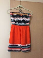 Silence And Noise Urban Outfitters Small Orange Tribal Dress
