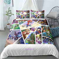 Super Mario Doona/Duvet/Quilt Cover Set Single/Double/Queen/King Size Bed Linen