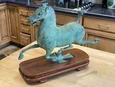 Vintage Bronze Chinese Running Horse Sculpture