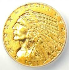"""1911-S Indian Gold Half Eagle $5 Coin - Certified ICG AU55 - Rare """"S"""" Mint!"""