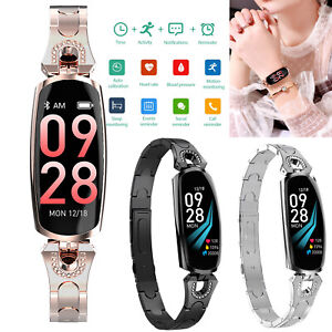 Slim Women Lady's Gift Bluetooth Smart Watch Bracelet Wristband Heart Rate Call