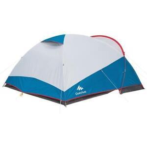 Decathlon Quechua 2-3 Person Tent, Quechua Mat, 2 Sleeping Bags & Small Blanket