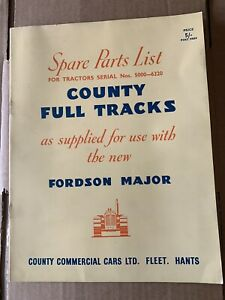 County Tractor Full Track spare parts list