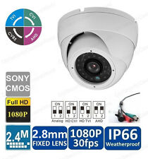 4-in-1 HD 2.4MP CMOS CVBS 1080p White IR Security CCTV 2.8mm Mini Dome Camera