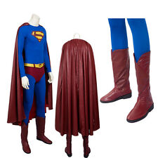New Superman Costume Superman Returns Cosplay Costume COS Shoes Party Suit
