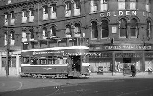 35mm negative Leeds Corporation Tram 156, Leeds 02-06-57