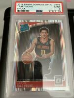 2018 Optic Shock Refractor RC Hawks TRAE YOUNG Rookie Basketball Card PSA 9 MINT