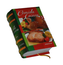 miniature comida casera 3 peruana para fiestas cook book in spanish easy to read