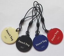 Epoxy NFC Key tags NTAG203 universal RFID keyfobs tags 13.56MHZ free shipping