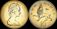 1975 GREAT BRITAIN 10 NEW PENCE PROOF COLOR TONED HIGH GRADE COIN