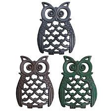 Cast Iron Owl Bird Garden Ornament Metal Wall Mountable Owl Animal Ornaments
