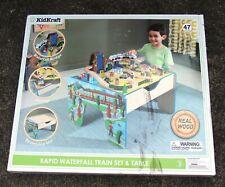 KidKraft Rapid Waterfall Train & Table Set For Kids Fun Wooden Toy w Tracks 47pc