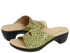 Aravon Petra WSP03GN Green Patent Sandals Shoes 10 D